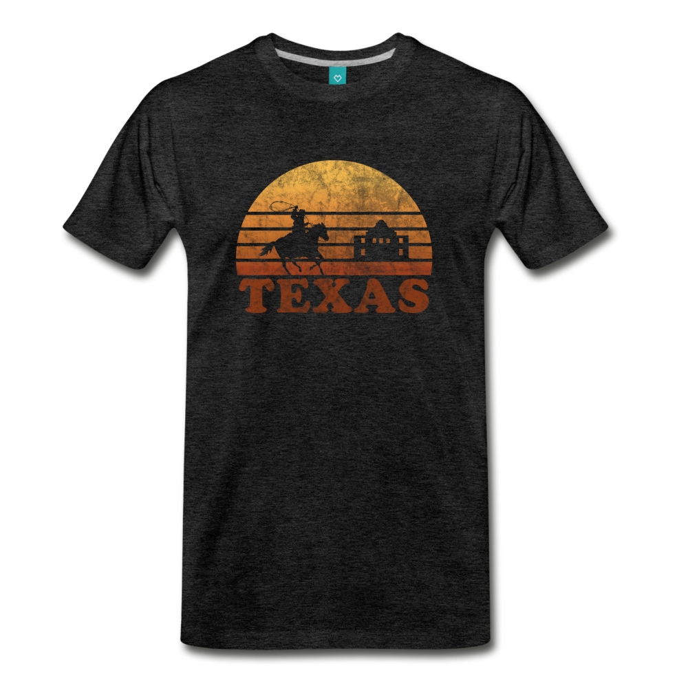 TEXAS state T-shirt: Vintage-style distressed graphic on a premium unisex shirt - charcoal gray