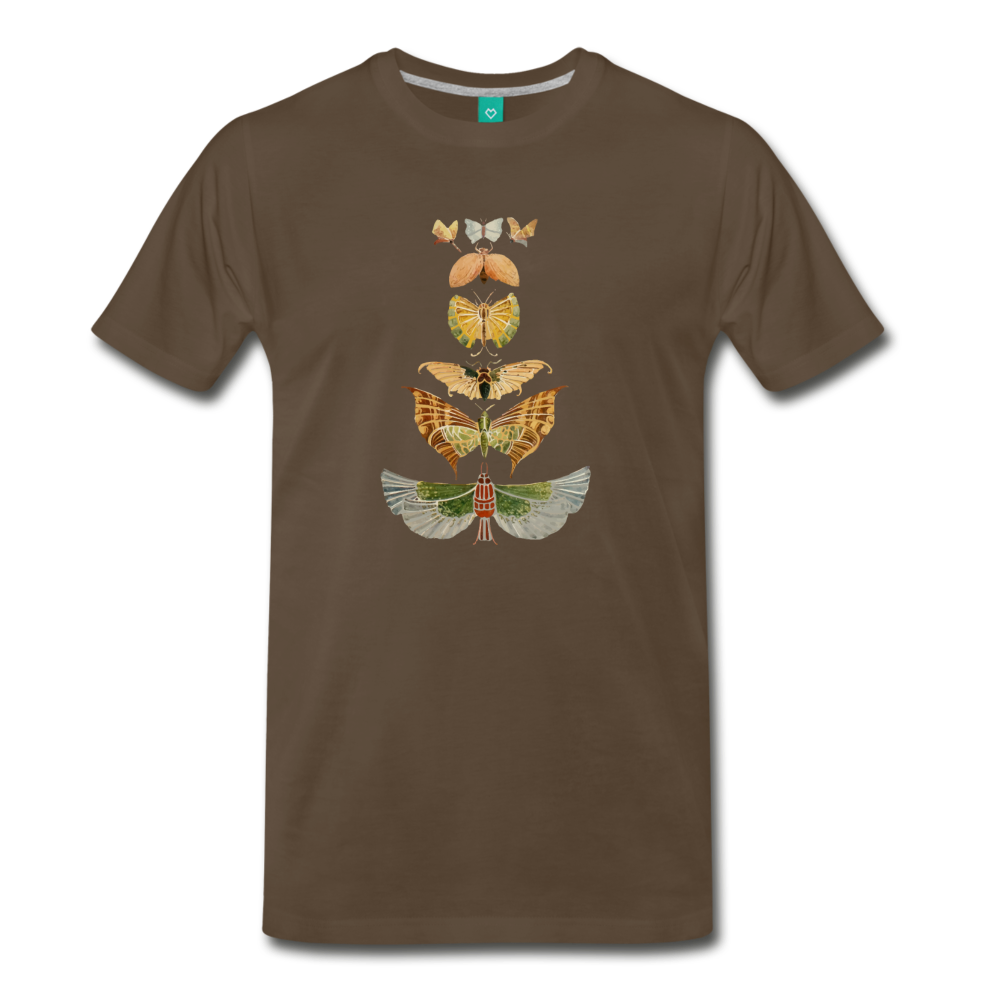 1917 butterflies on a premium unisex T-shirt - noble brown