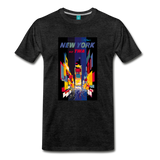 Times Square in New York City - Abstract vintage art on a on a premium unisex T-shirt - charcoal gray