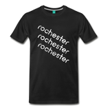 ROCHESTER city T-shirt: Vintage-style distressed graphic on a premium unisex shirt