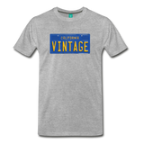 VINTAGE California license plate on a premium unisex T-shirt - heather gray
