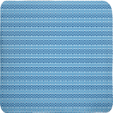 Margaux French dots pattern bath mats in blue