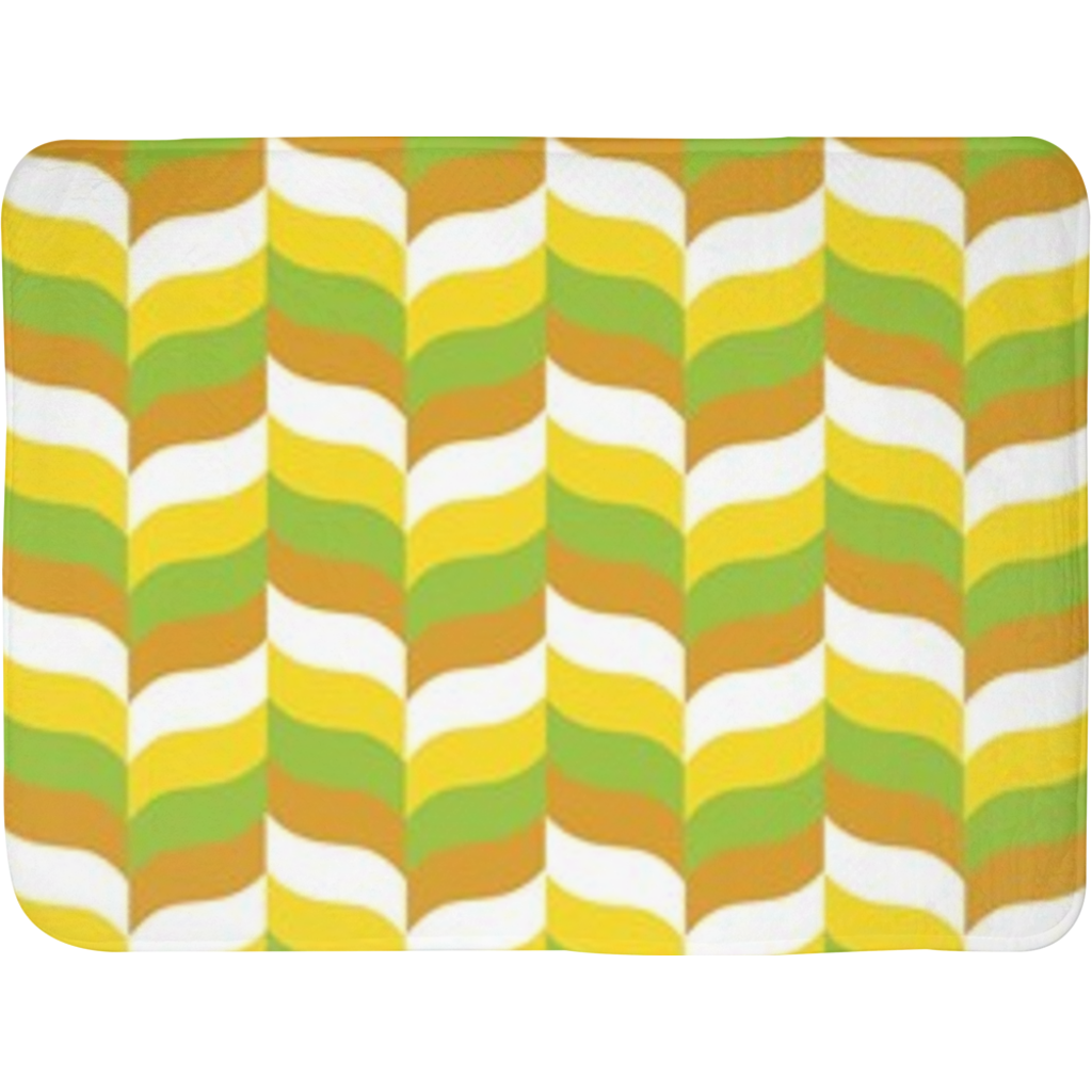 Modfeather pattern bath mat in green