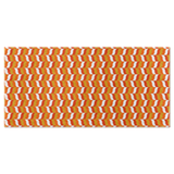 Modfeather pattern beach towel in orange