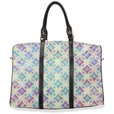 Morgan travel bags: Cream-colored traditional pattern overlaid on a pastel tie-dye gradient - 2 sizes available