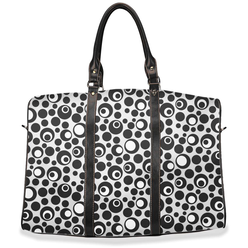 Black & white Moddots pattern travel bags - 2 sizes available