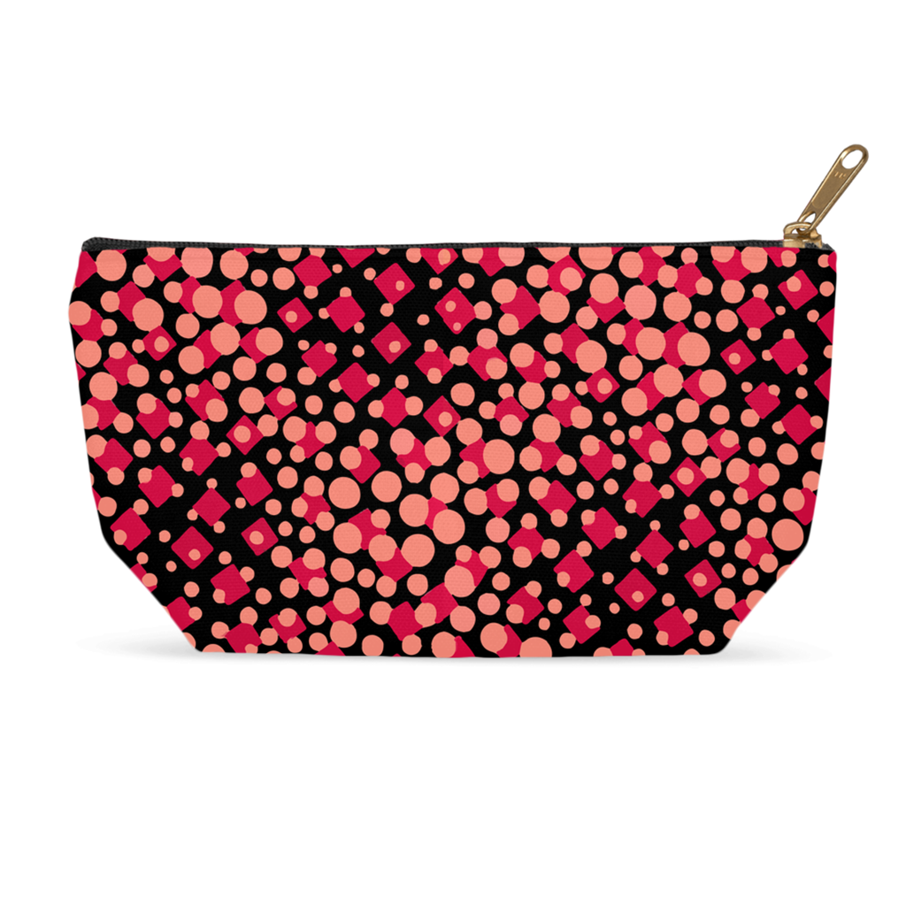 Makeup bag with vintage '30s Artemis pattern in pink