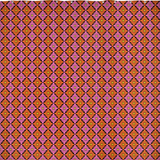 Diamondflower pattern shower curtain in pink & orange