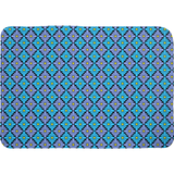 Diamondflower pattern bath mats in blue & purple