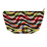 Cute striped makeup bag with vintage Painted Zebra pattern
