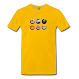 Bottle caps on a premium unisex T-shirt - sun yellow