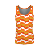 Modfeather pattern women's tank top in orange
