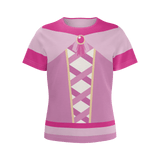 Princess Imagination play shirt/costume top in pink, featuring our exclusive all-over print design