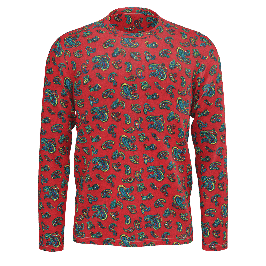 Totally Paisley vintage pattern on a long-sleeved unisex all-over shirt