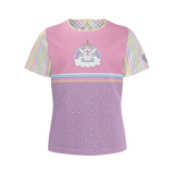 Unicorntastic t-shirt: Pink and purple-colored top for kids, starring Cleo the Unicorn