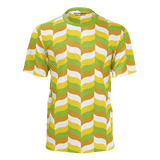 Modfeather pattern all-over-print unisex T-shirt in green