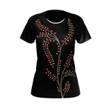 Victree graphic women's women's T-shirt - Victorian tree design motif