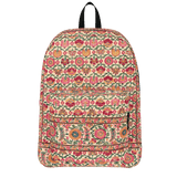 Moraga red floral backpack