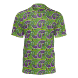 Dutch paisley all-over print unisex t-shirt on green