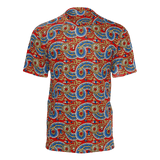 Dutch paisley all-over print unisex t-shirt on red