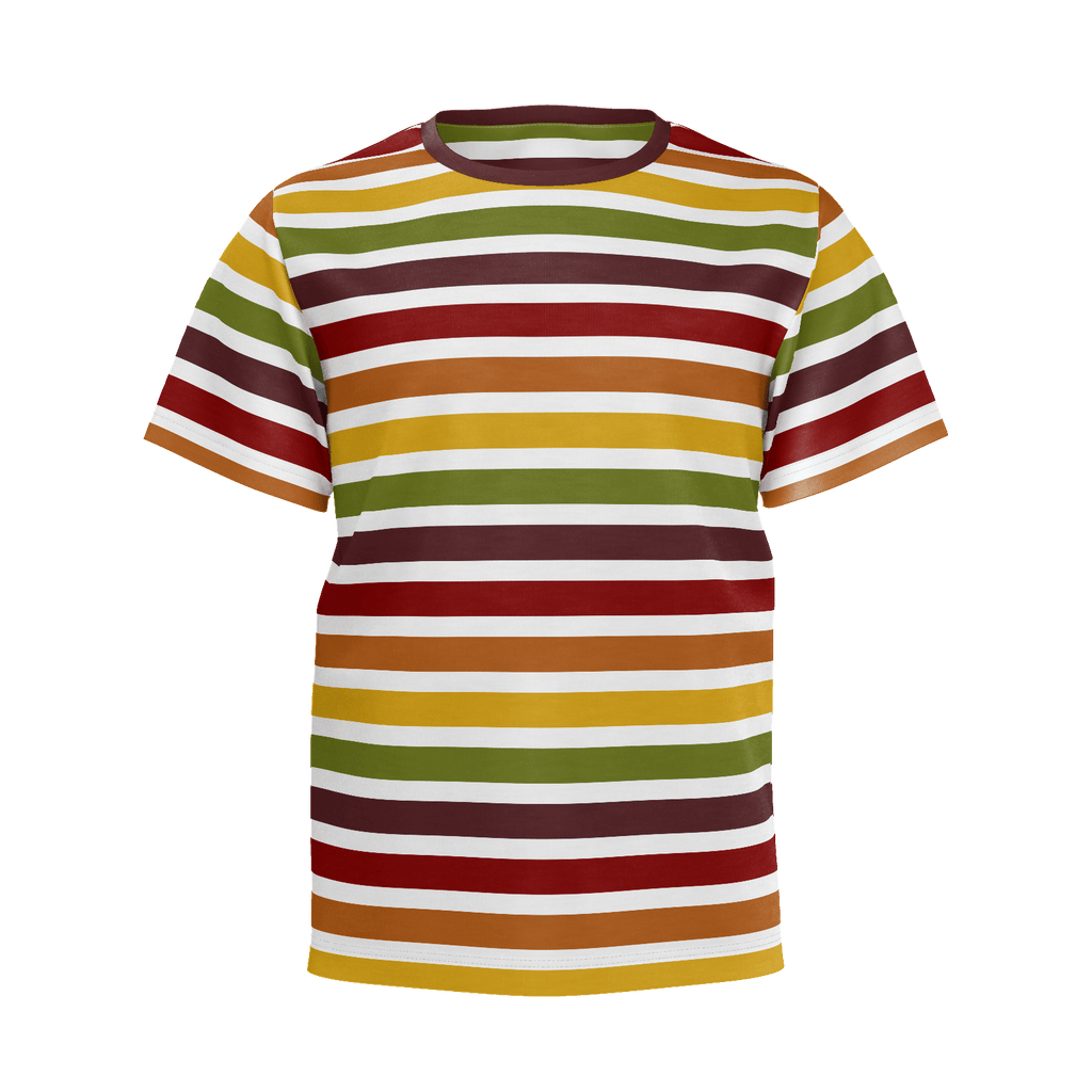 Marrakesh pattern retro '70s-style stripe kids' t-shirt (horizontal pattern)