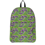 Dutch paisley all-over print backpack on green