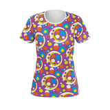 Moddots pattern in purple women's t-shirt