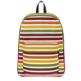 Marrakesh pattern retro '70s-style stripe backpack - Horizontal design on white