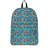 Dutch paisley all-over print backpack on blue