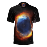 Iridescent Helix Nebula all-over print on a unisex T-shirt