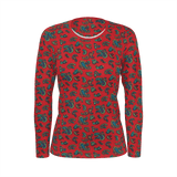 Totally Paisley vintage pattern on a long-sleeved women's all-over shirt