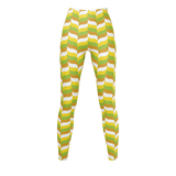 Modfeather pattern leggings in green