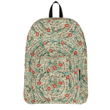 Ankara pattern backpack with vintage Turkish embroidery design