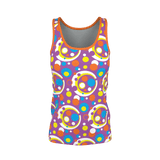 Moddots pattern in purple, blue & orange tank top