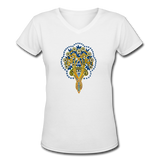 Women's V-Neck T-shirt - white