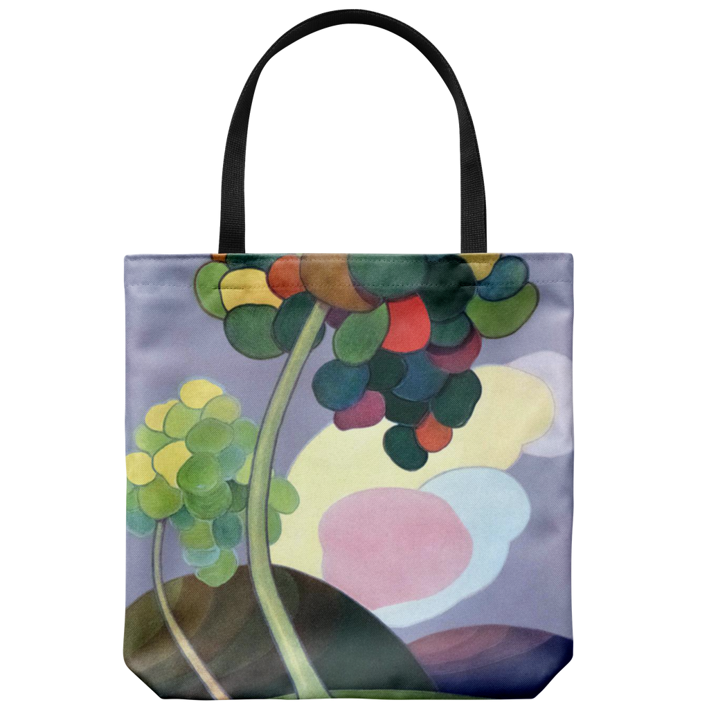 Tote bags with antique tree art from Shadowland magazine in the 1920s: 2 styles