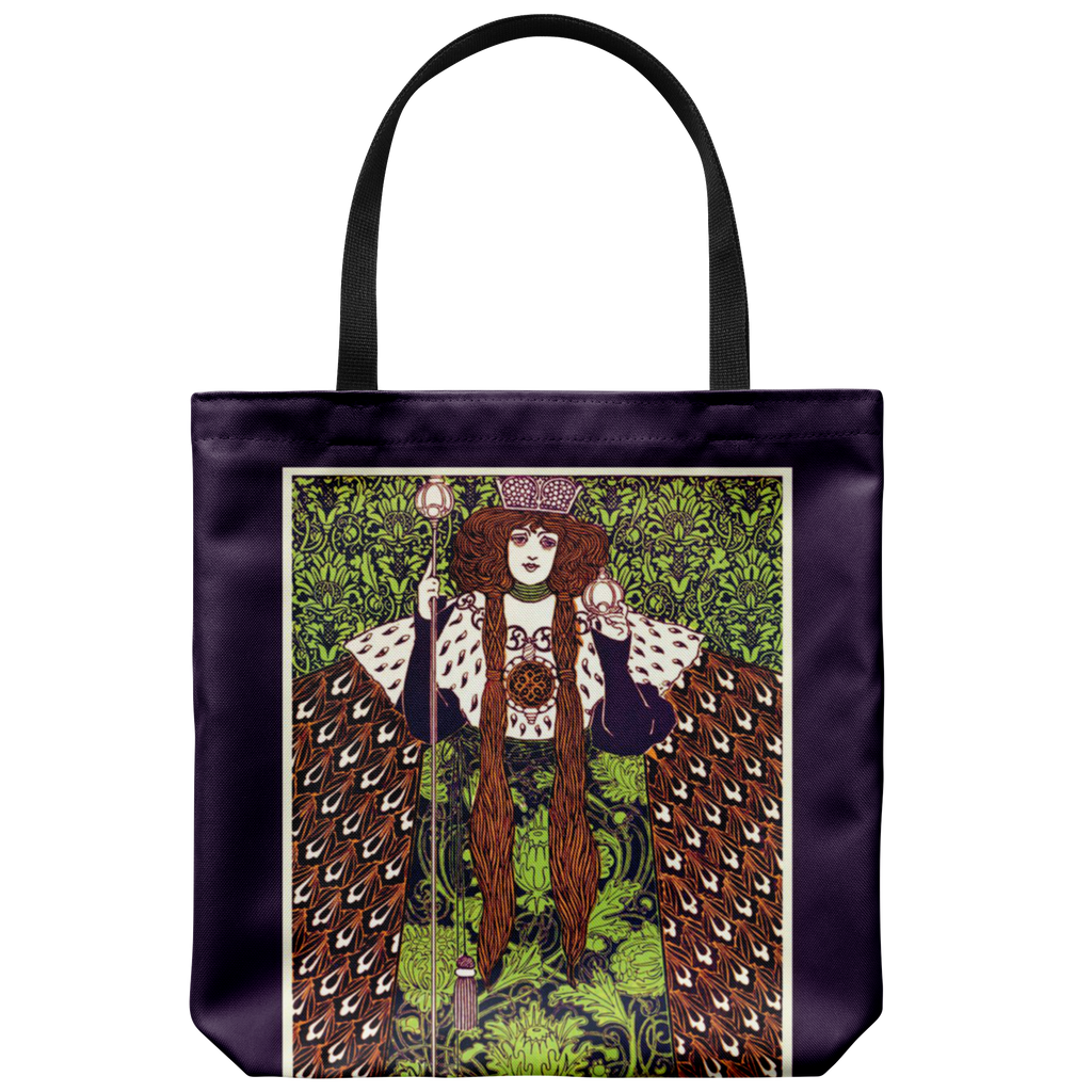 Antique queen artwork on a classic tote bag