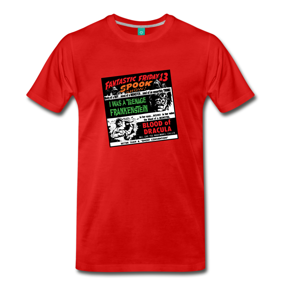 Horror movies from 1959 - on a premium unisex T-shirt - red