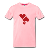 on a premium unisex T-shirt - pink