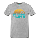 HAWAII state T-shirt: Vintage-style distressed graphic on a premium unisex shirt - heather gray