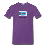 Forget tape on a premium unisex T-shirt - purple