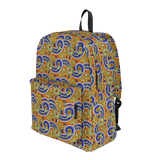 Dutch paisley all-over print backpack on orange