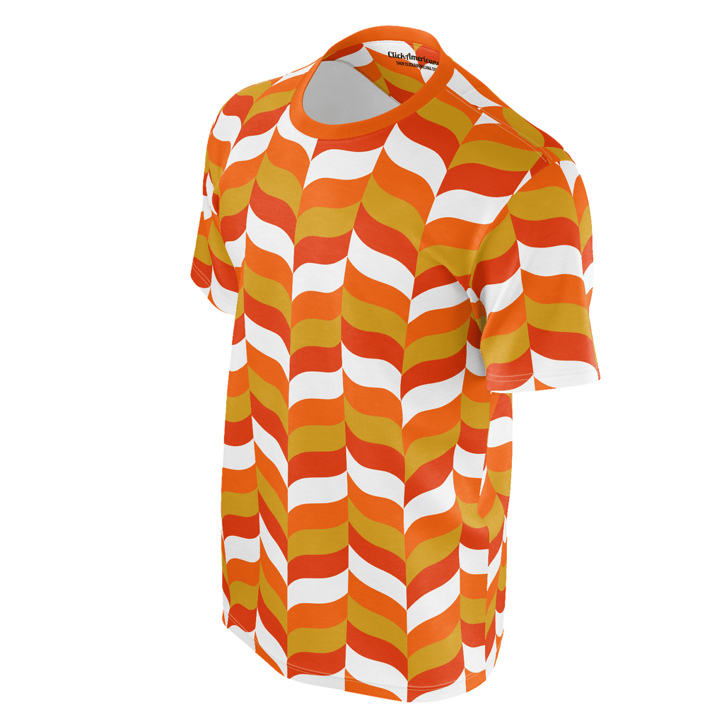 Modfeather pattern all-over-print unisex T-shirt in orange