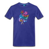 Flowers from 1854 - Recolored botanical print on unisex premium on a T-shirt - royal blue
