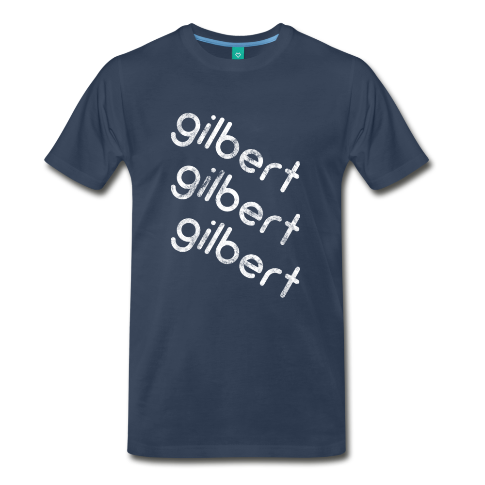GILBERT on a premium unisex T-shirt - navy