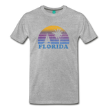 FLORIDA state T-shirt: Vintage-style distressed graphic on a premium unisex shirt - heather gray