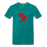 on a premium unisex T-shirt - teal