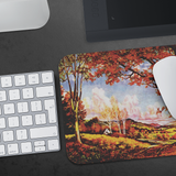 Mousepad with a vintage autumn landscape scene