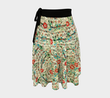 Ankara pattern wrap skirt with vintage Turkish embroidery design
