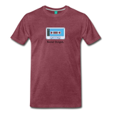 Forget tape on a premium unisex T-shirt - heather burgundy
